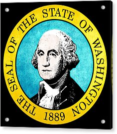 Great Seal Of The State Of Washington Acrylic Print by D Benbenn