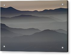 Great Smokey Mountains Shrouded In Fog Acrylic Print by Jetson Nguyen