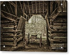 Great Smoky Mountains National Park, Tennessee - Broken Wagon. Cades Cove Acrylic Print