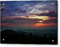 Acrylic Print featuring the photograph Great Smoky Sunsets by Jessica Brawley
