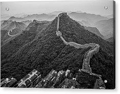 Acrylic Print featuring the photograph Great Wall 2, Jinshanling, 2016 by Hitendra SINKAR