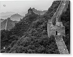 Acrylic Print featuring the photograph Great Wall 3, Jinshanling, 2016 by Hitendra SINKAR