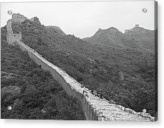 Acrylic Print featuring the photograph Great Wall 4, Jinshanling, 2016 by Hitendra SINKAR