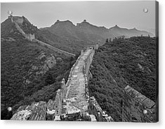 Acrylic Print featuring the photograph Great Wall 6, Jinshanling, 2016 by Hitendra SINKAR