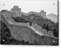 Acrylic Print featuring the photograph Great Wall 8, Jinshanling, 2016 by Hitendra SINKAR