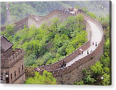Great Wall At Badaling Acrylic Print