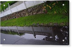 Great Wall Of Puddle Acrylic Print by Ron Sylvia