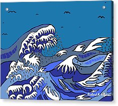 Great Wave 2011 Acrylic Print by Richard Heyman