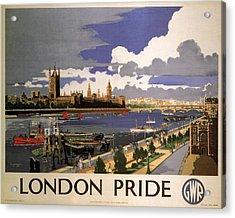 Great Western Railway - London Pride - Retro Travel Poster - Vintage Poster Acrylic Print