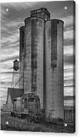 Great Western Sugar Mill Longmont Colorado Bw Acrylic Print by James BO  Insogna