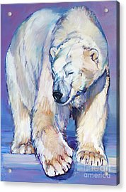 Great White Bear Acrylic Print by Mark Adlington