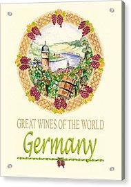 Great Wines Of The World - Germany Acrylic Print by John Keaton