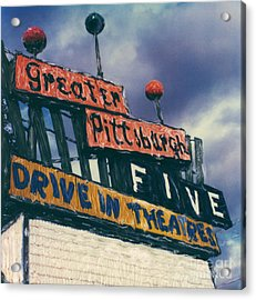 Greater Pittsburgh Five Drive-in Acrylic Print by Steven  Godfrey