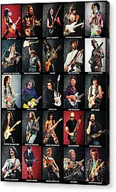 Greatest Guitarists Of All Time Acrylic Print by Taylan Apukovska