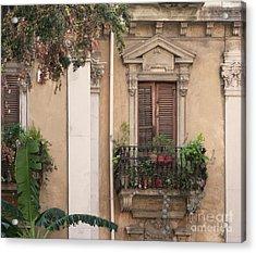 Grecian Courtyard Acrylic Print
