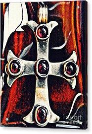 Greek Cross Acrylic Print by Sarah Loft