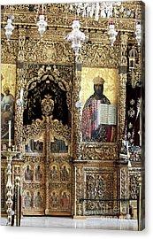 Greek Orthodox Alter Acrylic Print by John Rizzuto