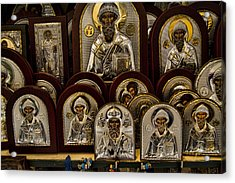 Greek Orthodox Church Icons Acrylic Print by David Smith