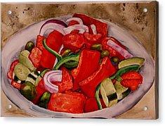 Greek Salad Acrylic Print