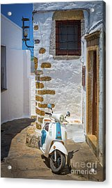 Greek Scooter Acrylic Print