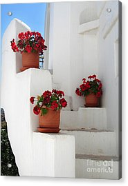Greek Steps  Acrylic Print by Jane Rix