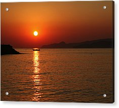 Greek Sunrise Acrylic Print
