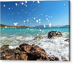 Greek Surf Spray Acrylic Print