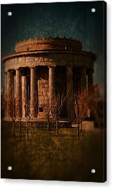 Greek Temple Monument War Memorial Acrylic Print by Angie Tirado