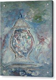 Greek Urn Acrylic Print by Edward Wolverton