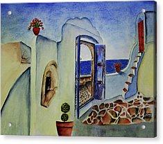 Greek Villa II Acrylic Print by Mary Gaines
