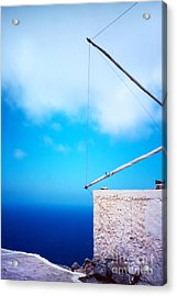 Greek Windmill Acrylic Print by Silvia Ganora