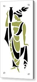 Greek Woman In Olive Acrylic Print
