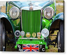 Acrylic Print featuring the photograph Green 1948 Mg Tc by Chris Dutton
