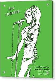 Green Amy Acrylic Print by Pablo Franchi