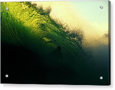 Green And Black Acrylic Print