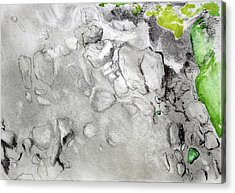Green And Gray Stones Acrylic Print