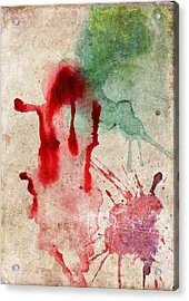 Green And Red Color Splash Acrylic Print