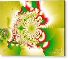 Green And Yellow Collide Acrylic Print