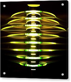 Green And Yellow Light Reflectors Acrylic Print