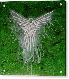 Green Angel Acrylic Print by Bo Klinge