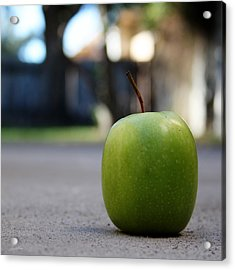 Green Apple- Photography By Linda Woods Acrylic Print
