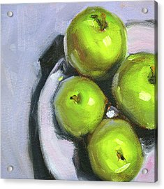 Green Apple Plate Acrylic Print