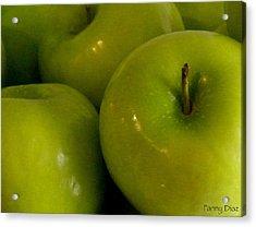 Green Apples 2 Acrylic Print by Fanny Diaz