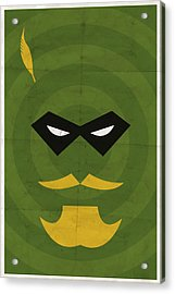 Green Arrow Acrylic Print by Michael Myers
