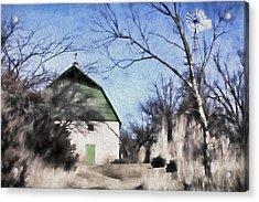 Green Barn Acrylic Print