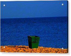 Acrylic Print featuring the photograph Green Basket by Votus