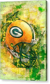Green Bay Packers Acrylic Print by Jack Zulli