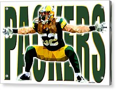 Green Bay Packers Acrylic Print by Stephen Younts