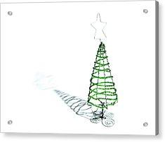 Green Bead Christmas Tree II Acrylic Print