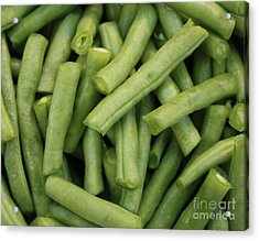Green Beans Close-up Acrylic Print by Carol Groenen
